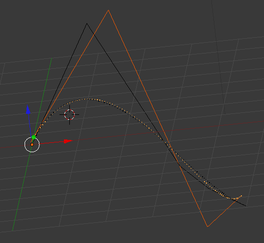 Reduced control Polygon and original + splines